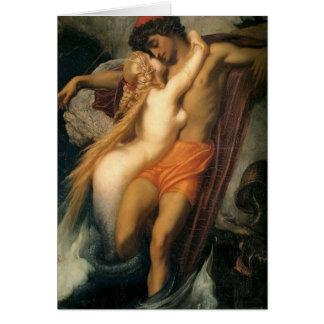 Vintage Mermaid Couple in Love Card