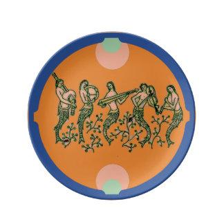 Vintage Mermaid Design on a Porcelain Plate
