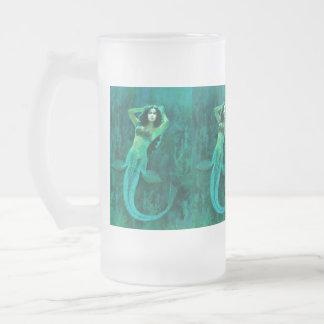 Vintage Mermaid Frosted Mug