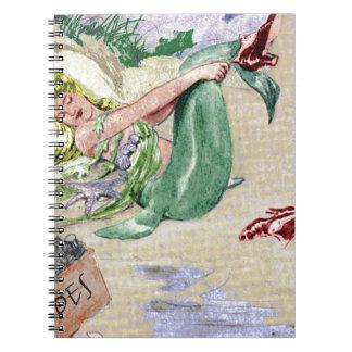 Vintage Mermaid Merchandise Notebooks