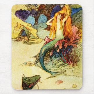 Vintage Mermaid Mouse Pad