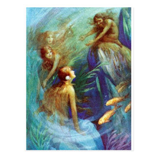 Vintage Mermaid Postcard