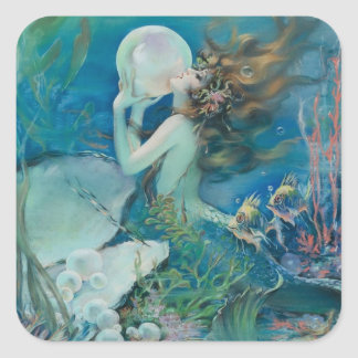 Vintage Mermaid with Pearl Sticker
