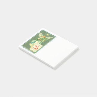 Vintage Merry Christmas Angel Post-it Notes