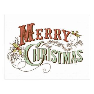 Vintage Merry Christmas Greeting Postcard