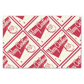 Vintage Merry Christmas Santa Gift Tissue Paper