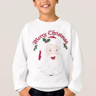 Vintage Merry Christmas Santa - script Sweatshirt