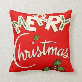Vintage Merry Christmas Seasonal Pillows