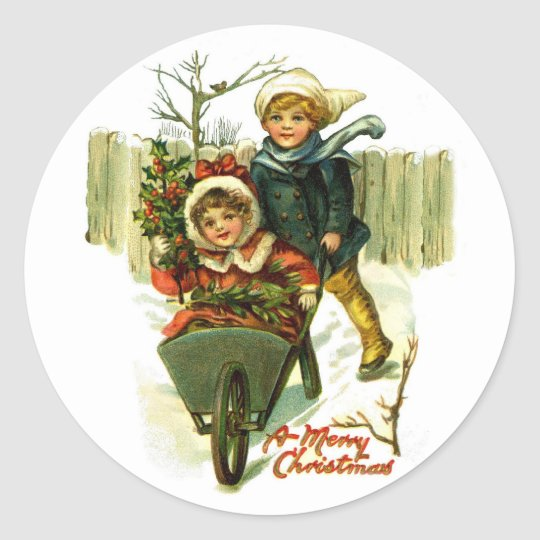 Vintage Merry Christmas Stickers