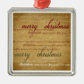 Vintage Merry Christmas Tree Ornament