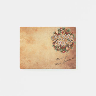 Vintage Merry Christmas with DIY Signature Post-it Notes