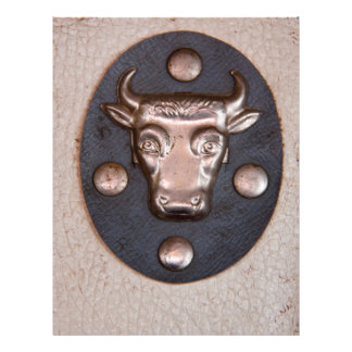 Vintage metal bull head personalized flyer