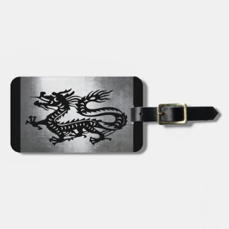 Vintage Metal Dragon Luggage Tag