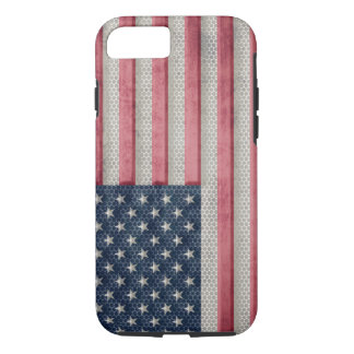 Vintage Metal Flag of United States of America iPhone 7 Case