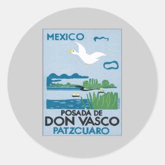 Vintage Mexico Patzcuaro Round Sticker