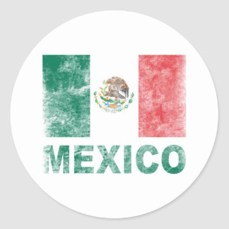 Vintage mexico round sticker