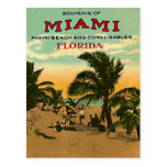 Vintage Miami Beach, Florida, USA - Post Cards