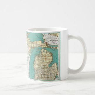 Vintage Michigan Map Coffee Mug