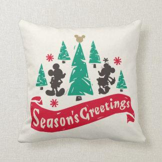 Vintage Mickey & Minnie   Season's Greetings Cushion