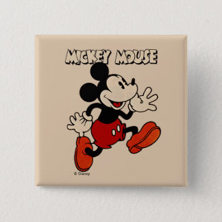 Vintage Mickey Mouse 15 Cm Square Badge