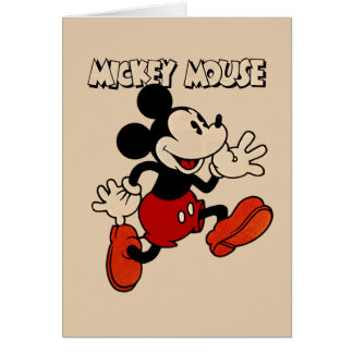 Vintage Mickey Mouse Card
