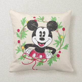 Vintage Mickey Mouse | Christmas Wreath Cushion