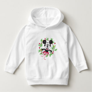 Vintage Mickey Mouse | Christmas Wreath Hoodie