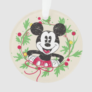 Vintage Mickey Mouse | Christmas Wreath Ornament