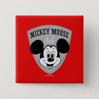 Vintage Mickey Mouse Club 15 Cm Square Badge