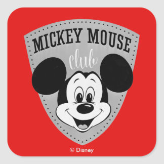 Vintage Mickey Mouse Club Square Sticker