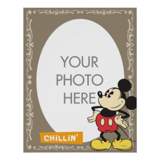 Vintage Mickey Mouse Customizable Poster