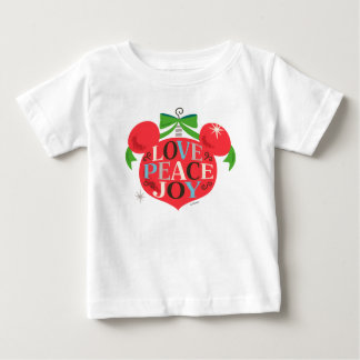 Vintage Mickey Mouse | Love, Peace & Joy Baby T-Shirt