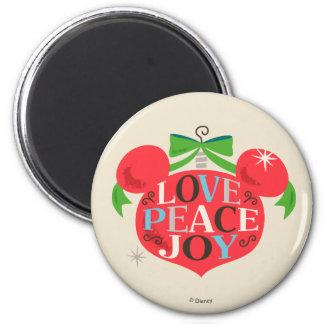 Vintage Mickey Mouse   Love, Peace & Joy Magnet