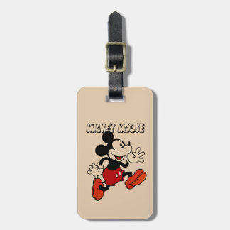 Vintage Mickey Mouse Luggage Tag