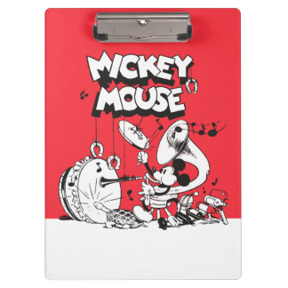 Vintage Mickey Silly Insturments Clipboard