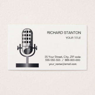 Vintage microphone business card