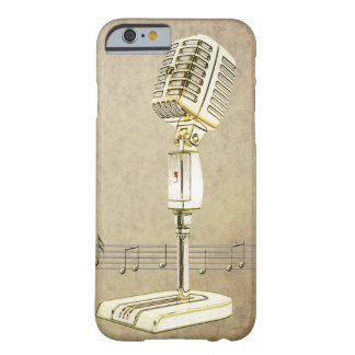Vintage Microphone Design Barely There iPhone 6 Case