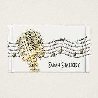 Vintage Microphone Design Business Card