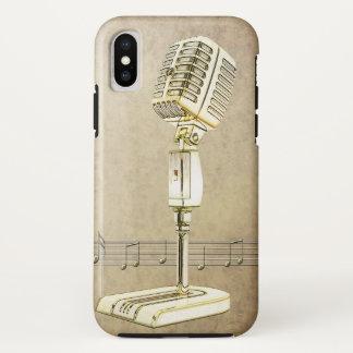 Vintage Microphone Design iPhone X Case