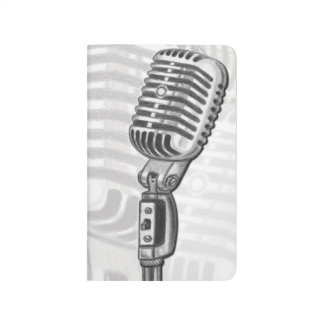 Vintage Microphone Personalized Pocket Journal