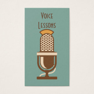 Vintage Microphone Retro Style Business Cards
