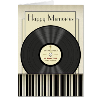 Vintage Microphone Vinyl Record Personalized Cards