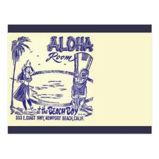 Vintage Mid-century Tiki Postcard