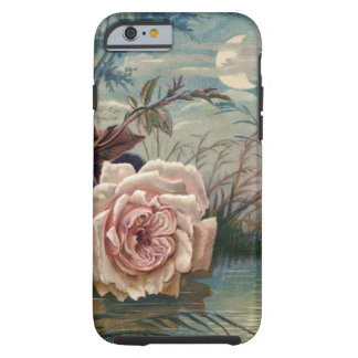 Vintage Midnight Rose and Moon Tough iPhone 6 Case