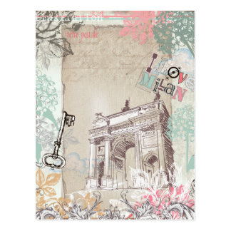 Vintage Milan Postcard