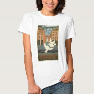 Vintage Milano Italy White Doves Orient Express T Shirt