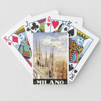 Vintage Milano Travel Bicycle Playing Cards