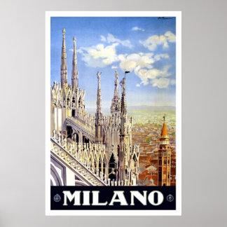 Vintage Milano Travel Posters