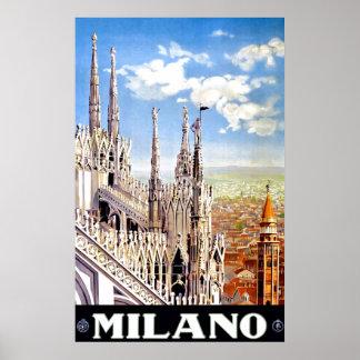 Vintage Milano Travel Unique Print Poster