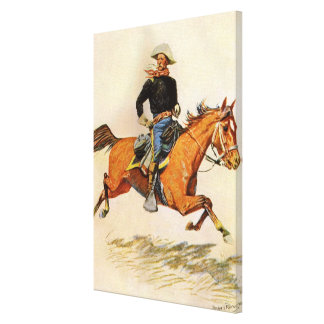 Vintage Military, A Cavalry Officer by Remington Stretched Canvas Prints